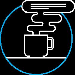 یک فنجان قهوه مهمان گروه مایان