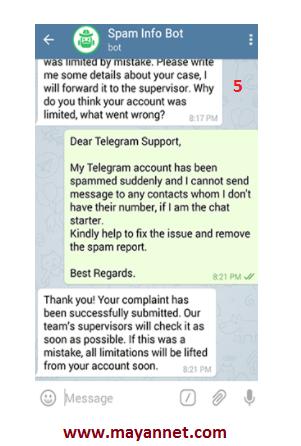 نحوه رفع ریپورت در تلگرام